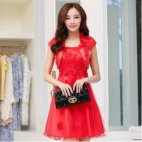 China Red Classic Womens Suit Dress wholesale