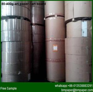 China 100gram 105 115 120 128 135gsm C2S Gloss Art Paper wholesale