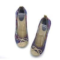 China Breathable Soft  Ballet Flat Shoes Classic  Womens Ballet Shoes Screen Print on sale