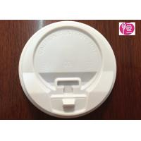 China 8oz / 12oz / 16oz White Color Coffee Cup Lids With A Cap / PS Material on sale