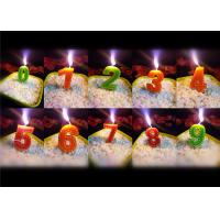 China Beauty Stitches Printed Numerical Birthday Candles White Short Line Border Wax wholesale