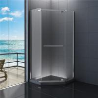 900x900 Diamond  Bathroom Shower Enclosure Clear Glass 1900 Height