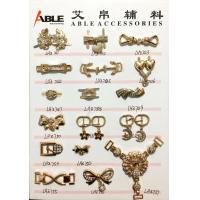 China Popular Nickel Sparkling Zinc Alloy Buckle , Small Shoe Buckles For Woman wholesale