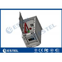 Buy cheap 24U Single Wall Outdoor Telecom Cabinet With Fan Cooling Galvanized Steel from wholesalers