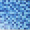 China LAR029 mix swimming pool tiles price crystal glass mosaic pattern 20x20mm wholesale