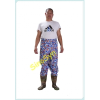 China FQWY1901 Camouflage PVC Skidproof Underwater Outdoor Fishing Pants with Rain Boots wholesale