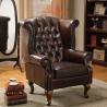 China Leisure Comfortable Single Chair Lounge / Modern Chesterfield Sofa wholesale