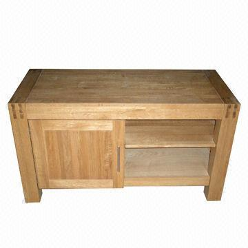 Quality TV Stand/Cabinet/Entertainment Unit, Made of Solid Oak for sale