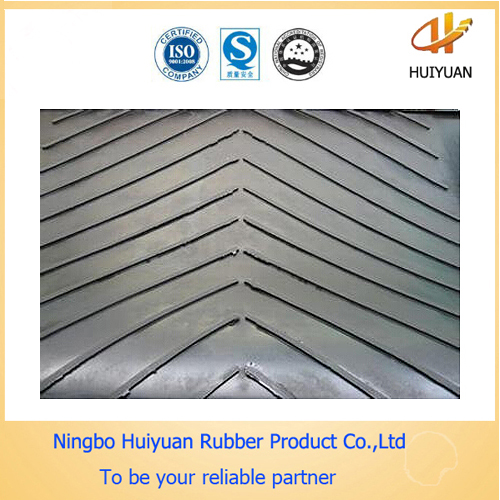 Quality High Tensile Strength Chevron V Shape Cleated Conveyor Belting for sale