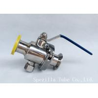 China Dn25 Tp316l Polsihed Stainless Steel Sanitary Valves Threaded Ball Valve Bpe Valves wholesale