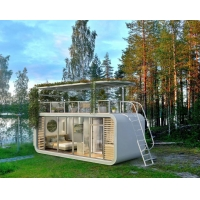China 40ft 20ft Steel Prefabricated Living Building Hotel Container house with French Window on sale
