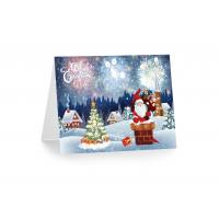 Buy cheap 3D 12x17cm Greeting Card Lenticular Printing Services With Customized X-mas from wholesalers