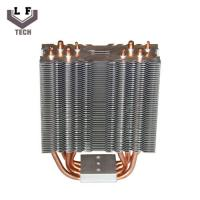 China Brass Four Copper Pipe Heat Sinks Metal Stamping Parts Copper  Fin Heat Sinks wholesale