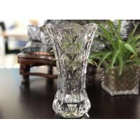China 25cm Height Transparent Clear Glass Vases Machine Made Desktop In Stock wholesale