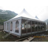 China Aluminum Frame 8x8 Gazebo Canopy Tents , Outdoor High Peak Tents For Restaurant wholesale