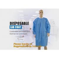 China Disposable Isolation Non- Woven Gown,Disposable Hospital Non woven Medical White Lab Coat,Disposable Industrial Overall wholesale
