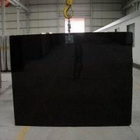China Absolute Black Granite/Gang Saw Slabs, Solid and Luxury Stone Color, Surface Polished on sale