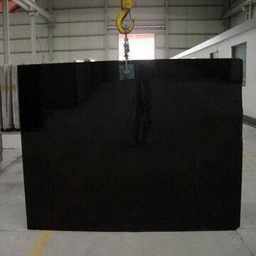 Quality Absolute Black Granite/Gang Saw Slabs, Solid and Luxury Stone Color, Surface Polished for sale