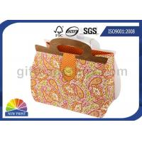 China Printing Handbag Shaped Wrapping Paper Gift Bag with Die-cut Handle , Eco-friendly wholesale