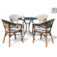 Buy cheap Backyard Patio Furniture Round / Square Outdoor Dining Table With Textoline from wholesalers