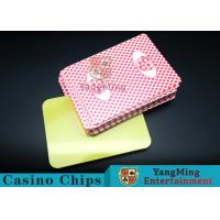 China PVC plastic Casino Poker Playing Card Die Cutting Card With Custom Quality And Pro Service Four Color wholesale