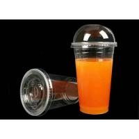 China Clear Plastic Drinking Cups , 500ml 16 Oz Disposable Plastic Cups With Lids wholesale
