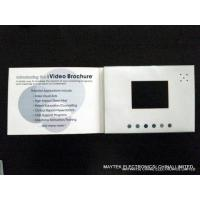 China Customized 7 inch 512M, 1G LCD Greeting Card Video - brochure with 4C printing  on sale