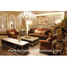 China 革茶色のソファーの現代ソファーの居間の家具の居間セットの現代古典的なソファー wholesale