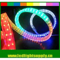 China PVC led flat rope 4 wires waterproof xmas home decoration led rope light wholesale