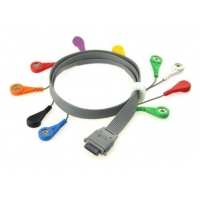 China Edan Holter 10 Lead ECG Cable and Lead Wires with Snap Button Connector on sale