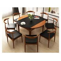 China Round Dining Room Solid Wood Table Furniture For Home / Restaurant Using wholesale