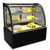 China Green & Health Curved Glass Bakery Cake Display  Freezer With 500L wholesale
