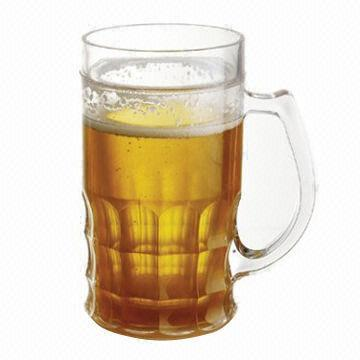 Quality Plastic beer mugs with beer mug/beer cooler/ice tumbler for sale