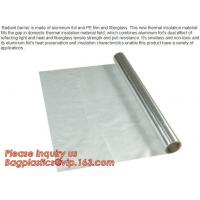 China Aluminium laminated foil woven cloth vapor barrier lowes thermal insulation,foil fiberglass cloth,roof sarking,EPE,XPE wholesale