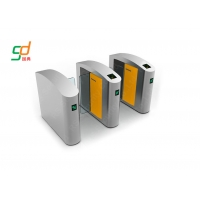 China RFID Reader Optical Turnstile Security Systems High Speed Barrier Sliding Gate on sale