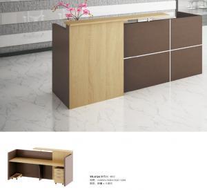 China office 2.4m melamine reception desk furniture wholesale