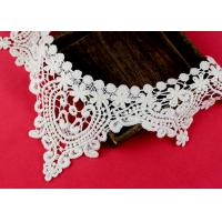 Emrbroidered Cotton Collar Applique With Retro Guipure Lace Pattern Custom