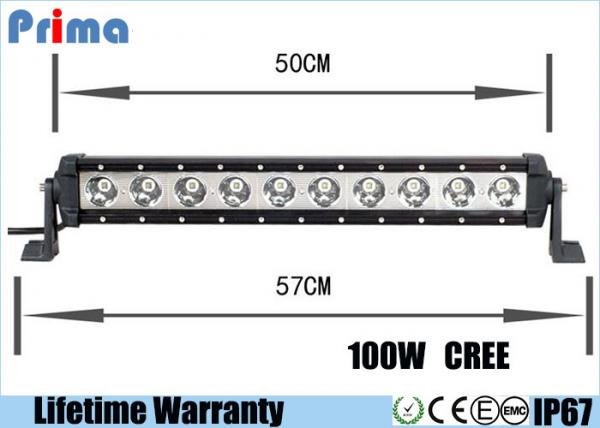 Quality 22inch 100W High Power Cree 10W Led Light Bar For Jeep SUV Boat Marie Truck for sale