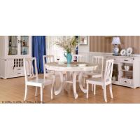 China Simple European Style Wood Dining Table Set / Dining Room Unit Uptake Plastic Technology wholesale