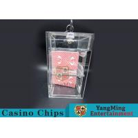 Transparent Security Casino Card Holder With  Laser Engraving Craftsmanship