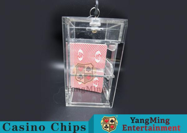 Quality Transparent Security Casino Card Holder With  Laser Engraving Craftsmanship for sale