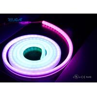 China RGB Led Rope Light Neon Tube RGB Flexible LED Strip Lights 5050RGB with IC embedded IP67 for outdoor wholesale