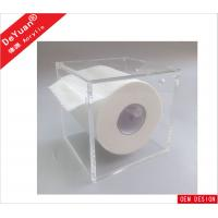 China Square Magnetic Tissue Acrylic Holder Stand Wall Mounted For Toilet wholesale