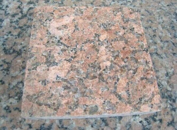 Quality Nature Red Granite Stone Tiles / Granite Tiles For Bathroom Floor for sale