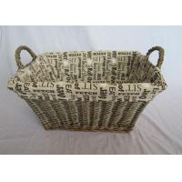 China Folk Art Style and Willow Type tapered wicker storage basket wholesale