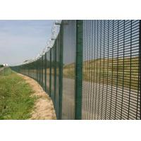 China Black Low Carbon 358 Security Fence 72.6 * 12.7mm Anti Climb Fence wholesale
