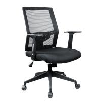 China High Back Black Mesh Office Chair / Ergonomic Swivel Chair With Headrest wholesale