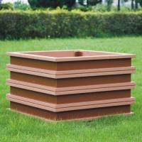 China large rectangular planters ecologically flower pots cheap flower pots of wpc material on sale