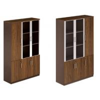 China modern office high quality 3 door glass document cabinet furniture wholesale