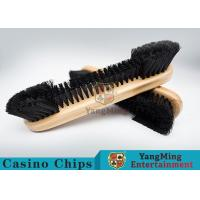 China Casino Table Maple Wood Brush Dedicated Table Layout Cleaning Brush For Casino Gambling Poker Games wholesale